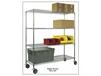 MOBILE CHROME WIRE SHELVING